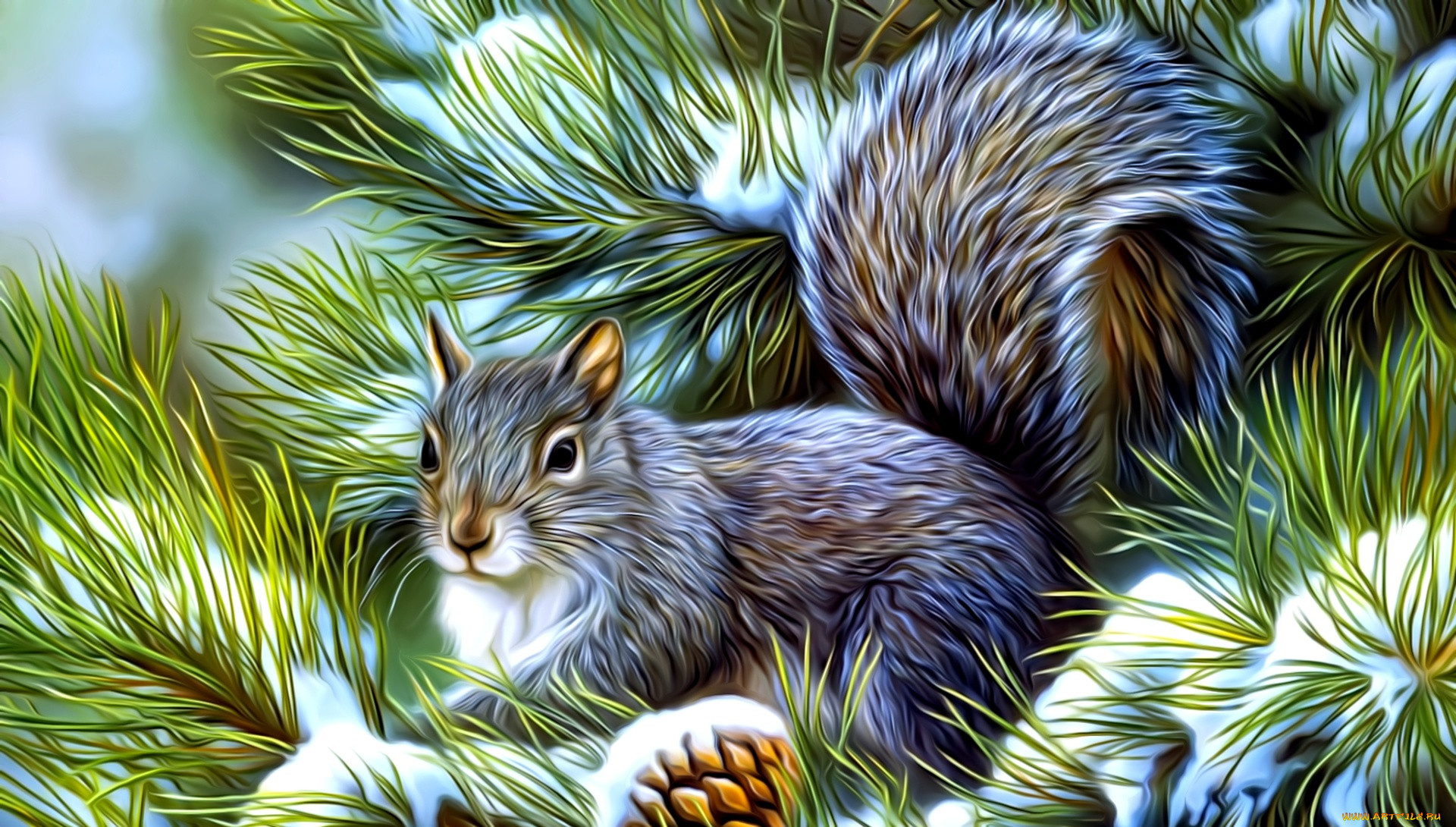 картинки животных в лесу зимой квартиры казани короткий